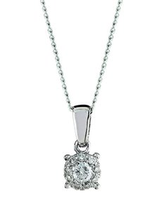 jewellery: 9kt White Gold 0.15ct Diamond Necklace!