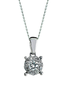 jewellery: 9kt White Gold 0.25ct Diamond Necklace!