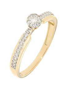 jewellery: 9kt Yellow Gold Diamond Bridal Ring!