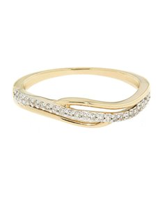 jewellery: 9kt Round Cut Yellow Gold Diamond Ring!