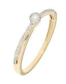 jewellery: 9kt Yellow Gold Diamond 0.12ct Ring!