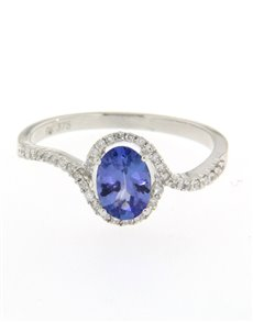 jewellery: 9kt Tanzanite And Diamond ring 0.85ct!