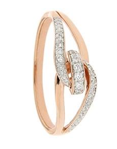 jewellery: 9kt Rose Gold Diamond Knot Ring!