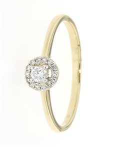 jewellery: 9kt Yellow Gold Brilliant Cut Diamond Ring!