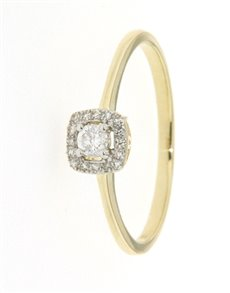 jewellery: 9kt Yellow Gold Diamond 0.09ct Ring!