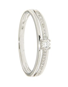 jewellery: 9kt White Gold 0.09ct Diamond Ring!