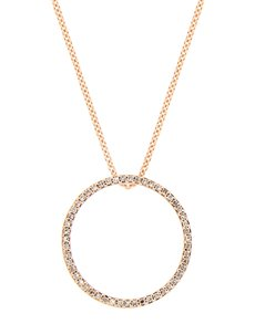 jewellery: 9kt Rose Gold Circle Of Life 45cm Necklace !