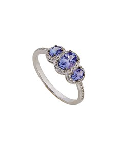 jewellery: 9KT White Gold Tanzanite Eternity Ring!