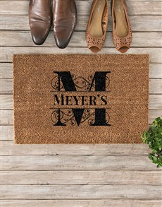 gifts: Personalised Discovery Family Monogram Doormat!