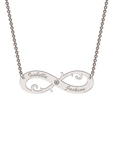 jewellery: Personalised MeMi Infinity Necklace!