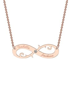 jewellery: MeMi  9kt Rose Gold Infinity Personalised Necklace!