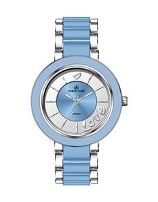 Daniel Klein Blue and Stainless Steel Ladies Watch