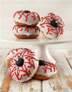 Picture of Eerie Eyeball Doughnuts!