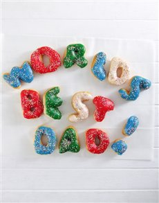 gifts: Worlds Best Dad Mini Letter Doughnuts!