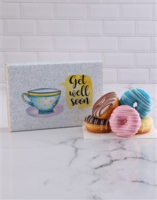 flowers: Get Well Stripy Doughnut Box!