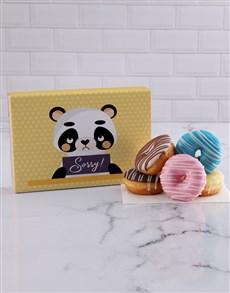 flowers: Sorry Panda Doughnut Box!