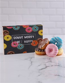 bakery: Be Happy Doughnut Box!