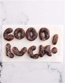 bakery: Good Luck Doughnut Letters!