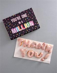 bakery: Thank You Sprinkles Doughnut Letters!