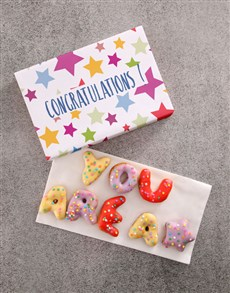 bakery: Congrats Doughnut Letters!