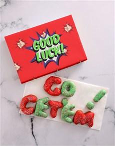 bakery: GO GET'EM Doughnut Letters!