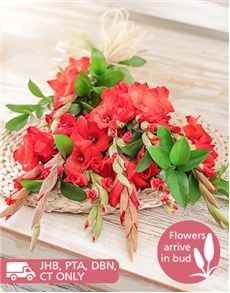 flowers: Red Gladiolus Bouquet!