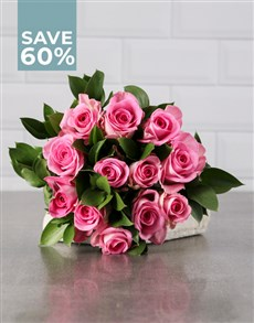 flowers: Perfectly Pink Rose Bouquet!
