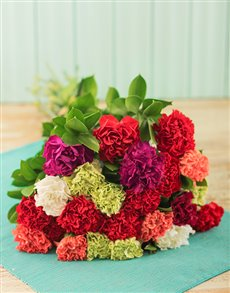 flowers: Catching Mixed Carnation Bouquet!