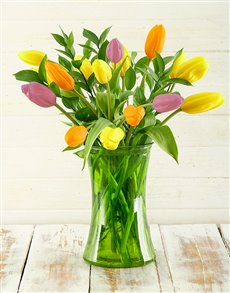 flowers: Springtastic Tulip Arrangement!