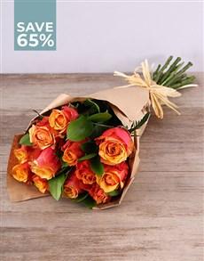 flowers: Cherry Brandy Rose Bouquet!