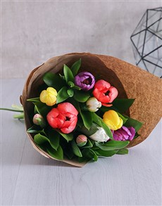 flowers: Mixed Tulip Blossoms!