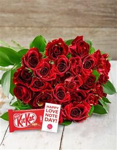 flowers: Abracadabra Roses with KitKat!
