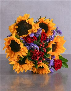 flowers: Always Sunny Sunflowers and Roses!
