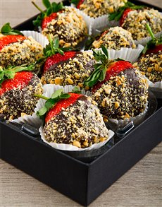 bakery: Nutty Delight Chocolate Dipped Strawberries!
