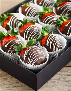 bakery: Dark Stripy Strawberries!