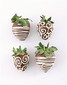 gifts: 4 Belgian Chocolate Dipped Strawberries!