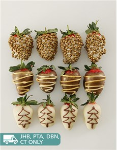 bakery: Golden Jingle Bell Dipped Strawberries!