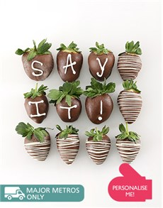 Personalised Dipped Strawberries