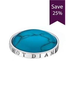 jewellery: Emozioni 25mm Turquoise Stone Coin!
