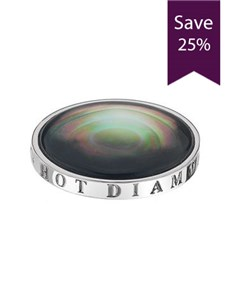 jewellery: Clearance Sale Emozioni 25mm Pearl Black Coin!