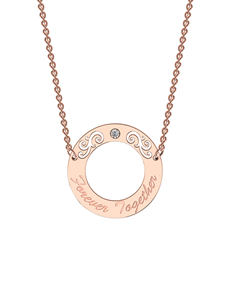 jewellery: MeMi Rose Gold and Diamond Circle Necklace!