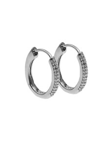 jewellery: 9KT White Gold Diamond Huggie Earrings!