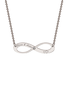 jewellery: MeMi Silver Infinity Personalised Necklace!