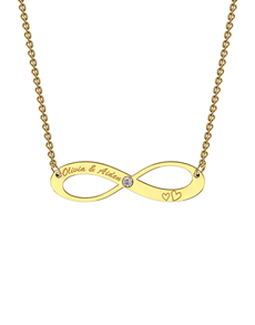 jewellery: MeMi 9kt Yellow Gold Infinity Necklace!
