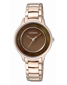 watches: Citizen Ladies rose gold and brown watch!