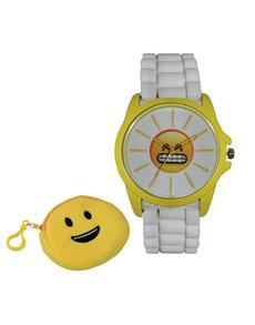 watches: Emoji Cyber Yum Yellow and White Watch!