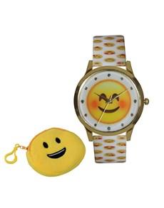 jewellery: Emoji Smile White Watch!