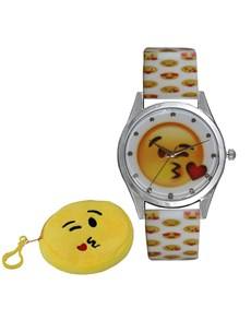 jewellery: Emoji Kiss White Watch!