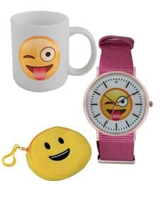watches: Emoji Wink Tongue Watch and Mug Gift !