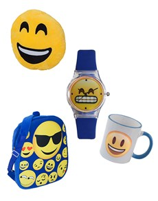 jewellery: Emoji Smiley Watch and Blue Bag Gift Pack!